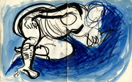 Reclining Nude Blue
