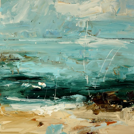 Louise Balaam, Pale turquoise sea, white surf