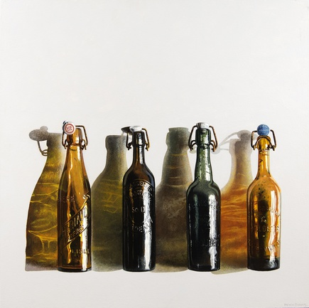Four Old Beer Bottles