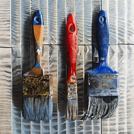 3 Old Paint Brushes