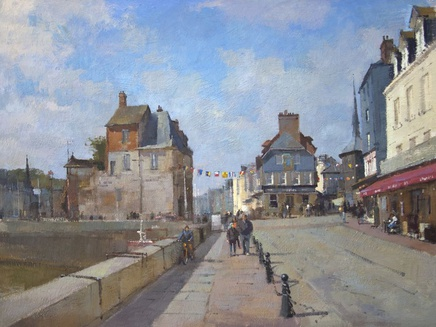 Matthew Alexander, A bright day in Honfleur