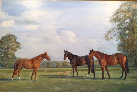 Thoroughbreds in a Landscape