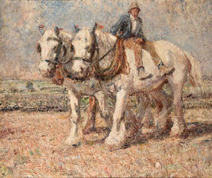 Harry Fidler, Going home - two greys, a chestnut and their master