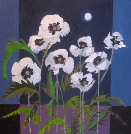 <span class=%22title%22>Oriental Poppies and Moon</span>